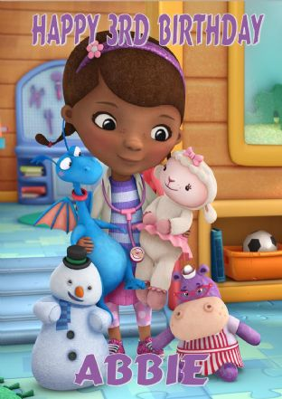 Personalised Doc McStuffins Birthday Card